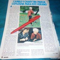 Coleccionismo de Revista Pronto: RECORTE : CAMILO SESTO Y CHARYTIN. PRONTO, JUNIO 1985 (#). Lote 236775580