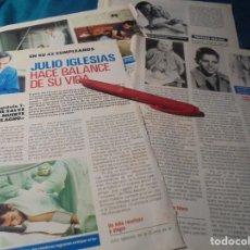 Coleccionismo de Revista Pronto: RECORTE : JULIO IGLESIAS, HACE BALANCE DE SU VIDA. CAP. 1. PRONTO, SPTMBRE 1988 (#). Lote 236787465