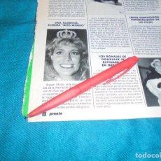 Coleccionismo de Revista Pronto: RECORTE : SUSAN STOSS, MISS MUNDO. PRONTO, SPTMBRE 1988 (#). Lote 236787600