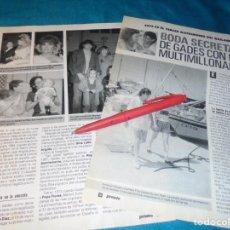 Coleccionismo de Revista Pronto: RECORTE : BODA DE ANTONIO GADES CON UNA MULTIMILLONARIA. PRONTO, SPTMBRE 1988 (#). Lote 236787835