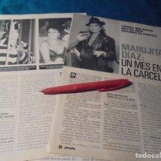 Coleccionismo de Revista Pronto: RECORTE : MARUJITA DIAZ, UN MES EN LA CARCEL. PRONTO, SPTMBRE 1988 (#). Lote 236788150