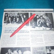 Collectionnisme de Magazine Pronto: RECORTE : PREMIO CALDERO, PARA EL UN, DOS, TRES.... SEMANA, ABRIL 1976 (#). Lote 236932990