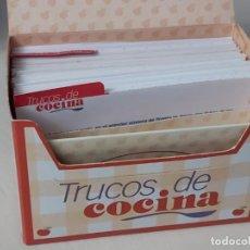 Coleccionismo de Revista Pronto: FICHERO DE PRONTO. TRUCOS DE COCINA COMPLETO. Lote 237336215