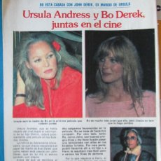 Colecionismo da Revista Pronto: RECORTE REVISTA PRONTO N.º 484 1981 URSULA ANDRESS Y BO DEREK. Lote 240336670