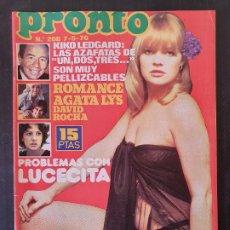 Collectionnisme de Magazine Pronto: REVISTA PRONTO Nº 208 - LUC BARRETO BEATRIZ ESCUDERO SUSANA ESTRADA IBAÑEZ SERRADOR. Lote 240682325