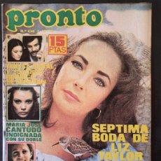 Colecionismo da Revista Pronto: REVISTA PRONTO Nº 230 - SOFIA LOREN DON CICUTA PEPE DOMINGO CASTAÑO FIORELLA FALTOYANO. Lote 240682445