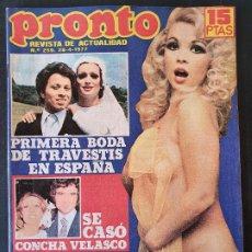 Collectionnisme de Magazine Pronto: REVISTA PRONTO Nº 259 - BARBARA REY SUSANA ESTRADA CONCHA VELASCO MONSTRUO SANCHEZSTEIN. Lote 240682555