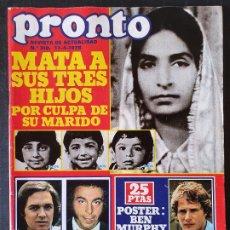 Colecionismo da Revista Pronto: REVISTA PRONTO Nº 310 - CONCHITA BAUTISTA ESTRELLITA CASTRO CAMILO SESTO BIGOTE ARROCET LOS AMAYA. Lote 241041775
