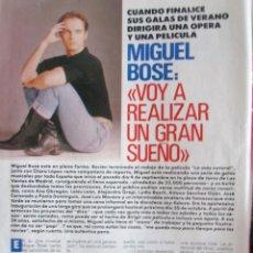 Colecionismo da Revista Pronto: RECORTE REVISTA PRONTO N.º 959 1990 MIGUEL BOSÉ 2 PGS. Lote 241084670