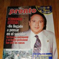 Coleccionismo de Revista Pronto: AÑO 1996 1284 FERNANDO ESTESO IMPERIO ARGENTINA ANA OBREGON MARUCHI RIPOLL CAMILA ROCÍO CARRASCO. Lote 242007015