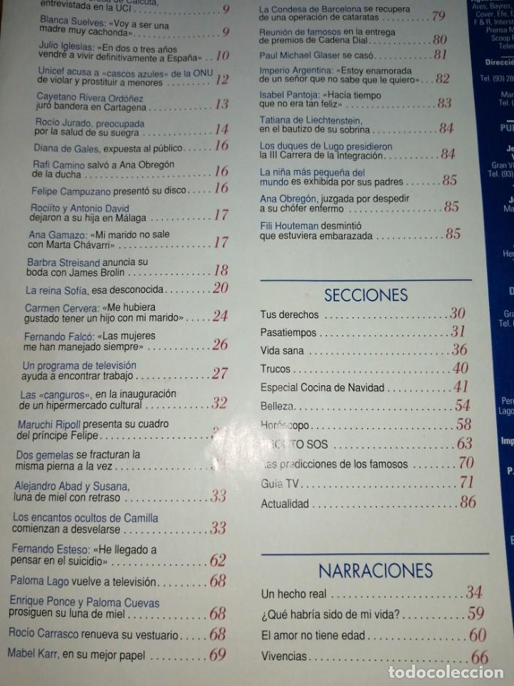Coleccionismo de Revista Pronto: Año 1996 1284 Fernando Esteso Imperio Argentina Ana Obregon Maruchi Ripoll Camila Rocío Carrasco - Foto 3 - 242007015