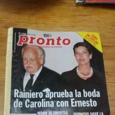 Coleccionismo de Revista Pronto: AÑO 1997 1332 CARMEN ORDÓÑEZ OSCAR LOZANO SERRAT PACO LOBATON EL DIONI SARA MONTIEL ELVIS PRESLEY. Lote 242265165