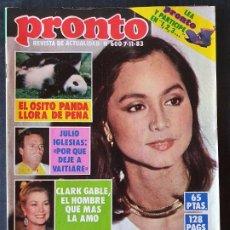 Coleccionismo de Revista Pronto: REVISTA PRONTO Nº 600 - ISABEL PREYSLER JULIO IGLESIAS SARA MONTIEL DEBBIE ALLEN NICK NOLTE GRACE KE. Lote 243398635