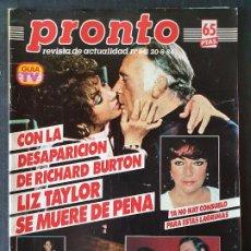 Coleccionismo de Revista Pronto: REVISTA PRONTO Nº 641 - LIZ TAYLOR ISABEL PREYSLER ROCIO JURADO GARY COOPER. Lote 243398720