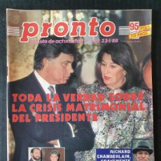 Colecionismo da Revista Pronto: REVISTA PRONTO Nº 820 - RICHARD CHAMBERLAIN LORENZO SANTAMARIA BLANCA FERNANDEZ OCHOA. Lote 243398805