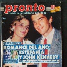 Coleccionismo de Revista Pronto: REVISTA PRONTO Nº 856 - ESTEFANIA JOHN KENNEDY ISABEL PREYSLER TONI CANTO ORNELLA MUTTI ELVIS PRESLE. Lote 243398830