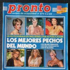 Colecionismo da Revista Pronto: REVISTA PRONTO Nº 874 - LOS MEJORES PECHOS DEL MUNDO ESTEFANIA MASSIEL CARMEN ROSSI IÑAKI GABILONDO. Lote 243398885