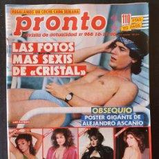 Collectionnisme de Magazine Pronto: REVISTA PRONTO Nº 966 - CRISTAL CAROLINA GORBACHOV XAVIER CUGAT. Lote 243398970