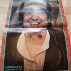 Coleccionismo de Revista Pronto: PÓSTER REVISTA PRONTO - MONSTRUO DE SANCHEZSTEIN - CANTIDUBI DUBI DU. Lote 243524460