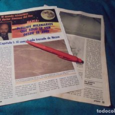 Coleccionismo de Revista Pronto: RECORTE : EL MUNDO MISTERIOSO DEL DR. JIMENEZ DEL OSO : NAZCA. PRONTO, ENERO 1986 (#). Lote 243762755