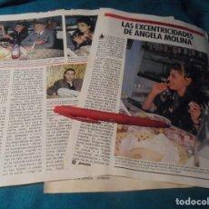 Coleccionismo de Revista Pronto: RECORTE : LAS EXCENTRICIDADES DE ANGELA MOLINA . PRONTO, OCTBRE 1985 (#). Lote 243763085