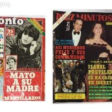 """Coleccionismo de Revista Pronto: PACK DE DOS REVISTAS """"PRONTO"""" + """"DIEZ MINUTOS"""" AÑOS 80. Lote 243990490"""