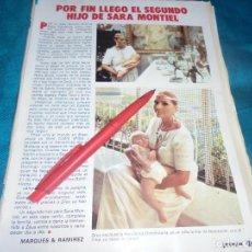 Coleccionismo de Revista Pronto: RECORTE : SARA MONTIEL, POR FIN LLEGO EL SEGUNDO HIJO. PRONTO, AGTO 1983 (#). Lote 244003905