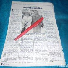 Coleccionismo de Revista Pronto: RECORTE : BO DEREK Y JOHN DEREK. PRONTO, ABRIL 1982 (#). Lote 244004895