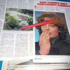 Coleccionismo de Revista Pronto: RECORTE : ROMY SCHNEIDER, MURIO ARRUINADA. PRONTO,MAYO 1983(#). Lote 244007435