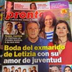 Coleccionismo de Revista Pronto: REVISTA PRONTO Nº 2445 AÑO 2019. PANTOJA MIGUEL BOSE LUKE PERRY GALINDO. Lote 244550755