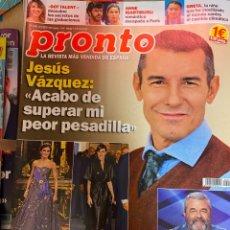 Coleccionismo de Revista Pronto: REVISTA PRONTO Nº 2444 AÑO 2019.JESUS VAZQUEZ / REINA LETIZIA / IGARTIBURU / GRETA. Lote 244556270