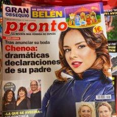 Coleccionismo de Revista Pronto: REVISTA PRONTO Nº 2482 / 2019 ROBERTO LEAL / CHENOA / RAQUEL MOSQUERA / MALÚ / MARIO CASAS ETC.. Lote 244556540