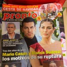 Coleccionismo de Revista Pronto: REVISTA PRONTO Nº 2479 / 2019 MARIO CASAS / BUSTAMANTE / ISABEL PANTOJA / PREYSLER/MIGUEL BOSE/ ETC.. Lote 244557280