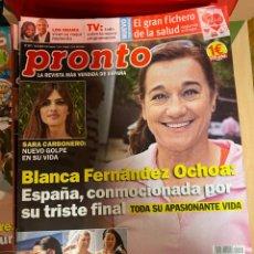 Coleccionismo de Revista Pronto: REVISTA PRONTO Nº 2471 / 2019 SARA CARBONERO / OBAMA / M.ANGEL SILVESTRE / DEMI MOORE / ETC.. Lote 244557565