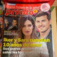 Coleccionismo de Revista Pronto: REVISTA PRONTO Nº 2470 / 2019 ROSALIA / MARIO CASAS / CASILLAS / ELVIS PRESLEY /SARA CARBONERO/ ETC.. Lote 244557640