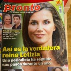 Coleccionismo de Revista Pronto: REVISTA PRONTO Nº 2469/ 2019 MISS ESPAÑA / MARIA PATIÑO / BRAD PITT / KEANU REEVES / LOS CASAS ETC.. Lote 244557745
