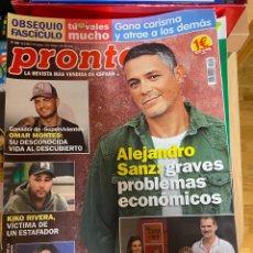 Coleccionismo de Revista Pronto: REVISTA PRONTO Nº 2466/ 2019 ROSALIA / ALEJANDRA SANZ / RAFA NADAL / JOAN BAEZ / BECQUER/ ETC.. Lote 244557795
