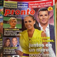 Coleccionismo de Revista Pronto: REVISTA PRONTO Nº 2465 / 2019 MICHAEL JACKSON / ISABEL PANTOJA /BRAD PITT DICAPRIO / NADAL / ETC.. Lote 244557875