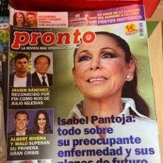 Coleccionismo de Revista Pronto: REVISTA PRONTO Nº 2463 / 2019 ISABEL PANTOJA / MALU / PAULA ECHEVARRIA / MARADONA / HARRY / ETC.. Lote 244562695