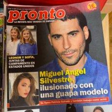 Coleccionismo de Revista Pronto: REVISTA PRONTO Nº 2461 / 2019 MIGUEL ANGEL SILVESTRE / ISABEL GEMIO / ANDRES VELENCOSO/CHENOA / ETC.. Lote 244562870