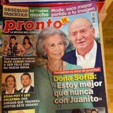 Coleccionismo de Revista Pronto: REVISTA PRONTO Nº 2467/ 2019 BRAD PITT DICAPRIO / ALEX LEQUIO / MANU TENORIO / PIPI ESTRADA / ETC.. Lote 244563015