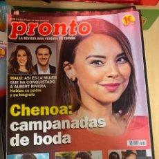 Coleccionismo de Revista Pronto: REVISTA PRONTO Nº 2459 / 2019 MALU / NADAL / CHENOA / FRAN RIVERA / SAMANTHA VALLEJO/LOS DIABLOS. Lote 244563155