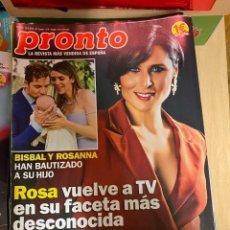 Coleccionismo de Revista Pronto: REVISTA PRONTO Nº 2458 / 2019 SERGIO RAMOS / CAYETANO RIVERA / CASILLAS / BISBAL / ROSA LOPEZ. Lote 244563310