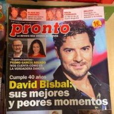 Coleccionismo de Revista Pronto: REVISTA PRONTO Nº 2457 / 2019 SPICE GIRLS / BISBAL / ROCIO CARRASCO / IMANOL ARIAS / KEN FOLLETT. Lote 244563400
