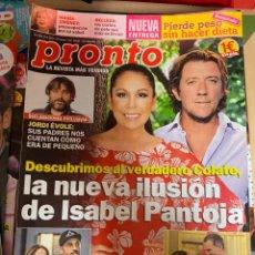 Coleccionismo de Revista Pronto: REVISTA PRONTO Nº 2455 / 2019 PAULA ECHEVARRIA / HARRY Y MEGHAN / JULIO IGLESIAS / ALASKA. Lote 244565095