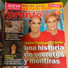Coleccionismo de Revista Pronto: REVISTA PRONTO Nº 2453 / 2019 CASILLAS / PANTOJA / EL BARSA / GEORGE CLOONEY / CESAR MANRIQUE. Lote 244565875