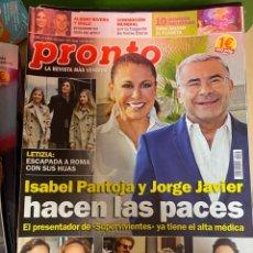 Coleccionismo de Revista Pronto: REVISTA PRONTO Nº 2451 / 2019 PANTOJA / PAULA ECHEVARRIA / BRAD PITT / MALU Y RIVERA / ROSALIA. Lote 244566070
