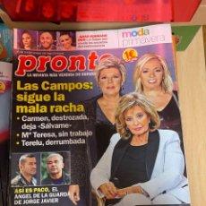 Coleccionismo de Revista Pronto: REVISTA PRONTO Nº 2449 / 2019 CHENOA / ORTEGA CANO / ROSA LOPEZ / TAMARA FALCO / LOLITA. Lote 244566280