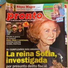 Coleccionismo de Revista Pronto: REVISTA PRONTO Nº 2532 / 2020 REINA SOFIA / KIKO FRAN CAYETANO RIVERA / DAVID DE GEA EDURNE ..... Lote 244571580