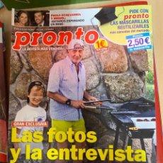 Coleccionismo de Revista Pronto: REVISTA PRONTO Nº2526 AÑOS 2020 REY JUAN CARLOS / PAULA ECHEVARRIA / ETC...... Lote 244572495